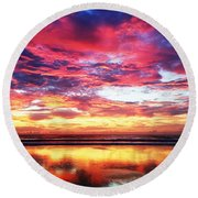 Love Is Real Round Beach Towel