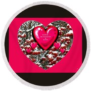 Round Beach Towel featuring the digital art Love Is Patient And Kind by Will Borden