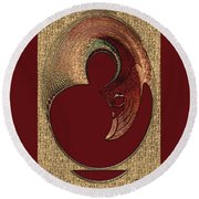 Round Beach Towel featuring the digital art Love Is... by Paula Ayers