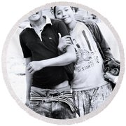 Round Beach Towel featuring the photograph Love Is Us  by Jez C Self