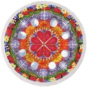 Round Beach Towel featuring the painting because Love Lasts for Eternity #1 by Kym Nicolas