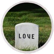 Love Monument Round Beach Towel