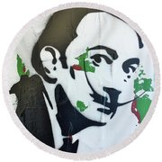 Round Beach Towel featuring the painting Love Of Everything by Jayime Jean