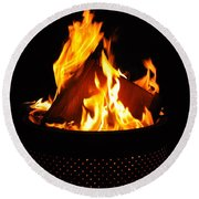 Love Of Fire Round Beach Towel