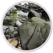Love Of Rocks Round Beach Towel