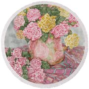 Love Of Roses Round Beach Towel