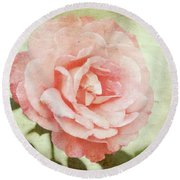 Love Rose Round Beach Towel