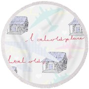 Love Shack Round Beach Towel