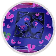 Love Soul Love Skeloton And The Subject Of Life Round Beach Towel
