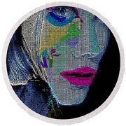 Round Beach Towel featuring the digital art Love The Way You Look by Rafael Salazar