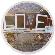 Love Train  Round Beach Towel by Melissa Messick