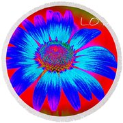 Love Round Beach Towel