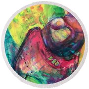 Love You For Always Round Beach Towel by Gail Butters Cohen