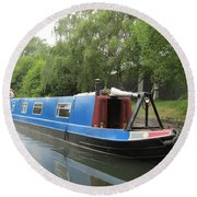 Loved-up On A Canal Boat - Park Royal Round Beach Towel