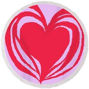 Loveheart Round Beach Towel
