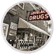 Lovelace Drugs Round Beach Towel