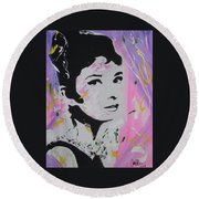 Lovely Audrey Round Beach Towel