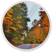 Lovely Autumn Trees Round Beach Towel