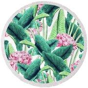 Lovely Botanical Round Beach Towel
