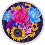 Lovely Bouquet Round Beach Towel by Samantha Thome