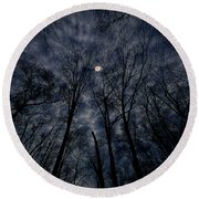 Round Beach Towel featuring the photograph Lovely Dark And Deep by Robert Geary