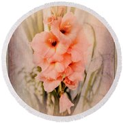 Lovely Gladiolus Round Beach Towel