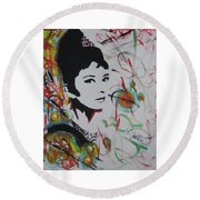Lovely Hepburn Round Beach Towel