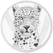 Lovely Leopard Round Beach Towel