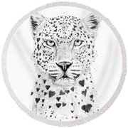 Lovely Leopard Round Beach Towel