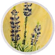 Lovely Lupines Round Beach Towel