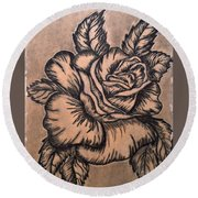 Lovely Rose Round Beach Towel