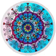 Lovely Summer Colors Round Beach Towel