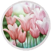 Lovely Tulips Round Beach Towel