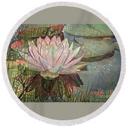 Lovely Waterlilies 5 Round Beach Towel
