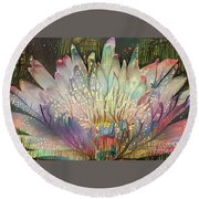 Lovely Waterlilies 6 Round Beach Towel