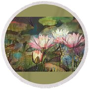 Lovely Waterlilies 7 Round Beach Towel