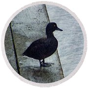 Lovely Weather For Ducks Round Beach Towel