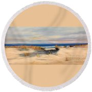 Lover's Key Round Beach Towel