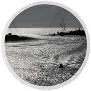 Lover's Key Sparkles Round Beach Towel