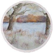 Lovers' Lake Round Beach Towel
