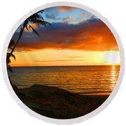 Lovers Paradise Round Beach Towel by Michael Rucker