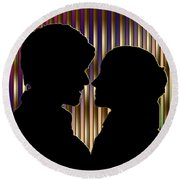 Round Beach Towel featuring the digital art Loving Couple - Chuck Staley by Chuck Staley