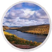 Loving Lake Of The Clouds Round Beach Towel