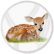 Loving Round Beach Towel by Phyllis Howard