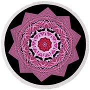 Loving Rose Mandala By Kaye Menner Round Beach Towel