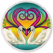 Loving Souls Round Beach Towel