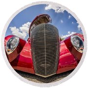 Low And Cool Round Beach Towel