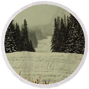 Low Ceiling Round Beach Towel
