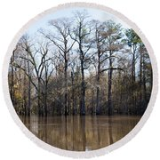 Low Country Morning Round Beach Towel