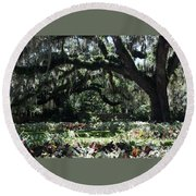 Round Beach Towel featuring the photograph Low Country Series I by Suzanne Gaff